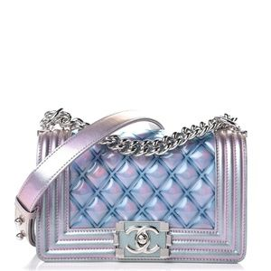 CHANEL IRIDESCENT SMALL BOY BAG